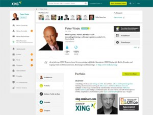 XING-Profil von Peter Wode - Screenshot
