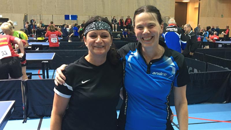 Beate und Karin trafen in Consolation Runde 2 aufeinander