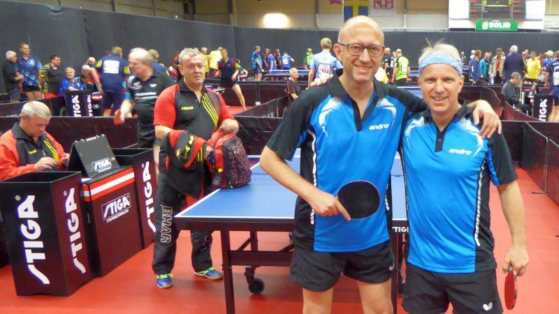 Nach Abwehr von drei Matchbällen: Peter & Thomas