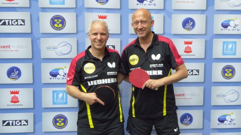 Platz 17 im Doppel bei der EVC 2017 in Helsingborg: Thomas Huck und Peter Wode