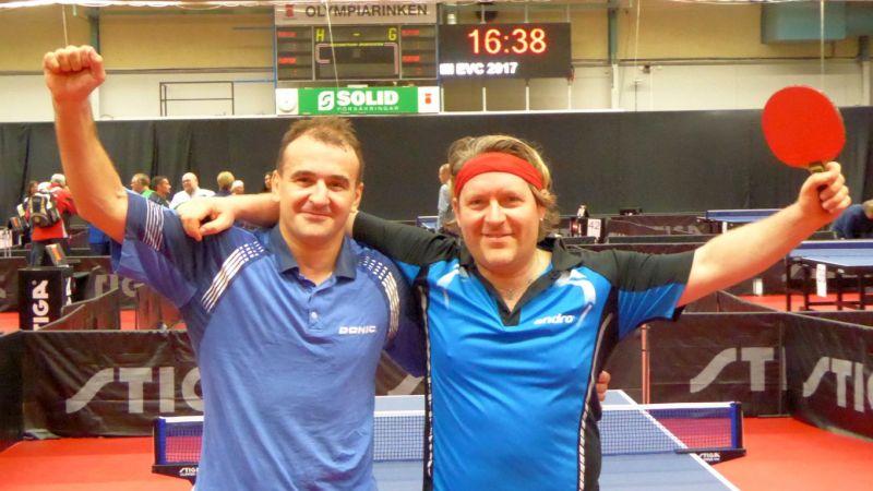 Sensationell im Halbfinale: Viktor Vasylevskyi und Uwe Bertram