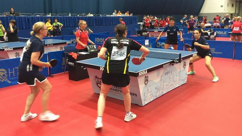 Karin und Gabi gegen Italien bei der EVC 2019 in Budapest