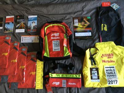 Ausstattung der Volunteers bei der TTWM 2017