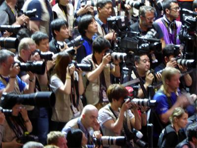 """Fotografen mit der """"Waffe im Anschlag"""" bei der TTWM 2017"""