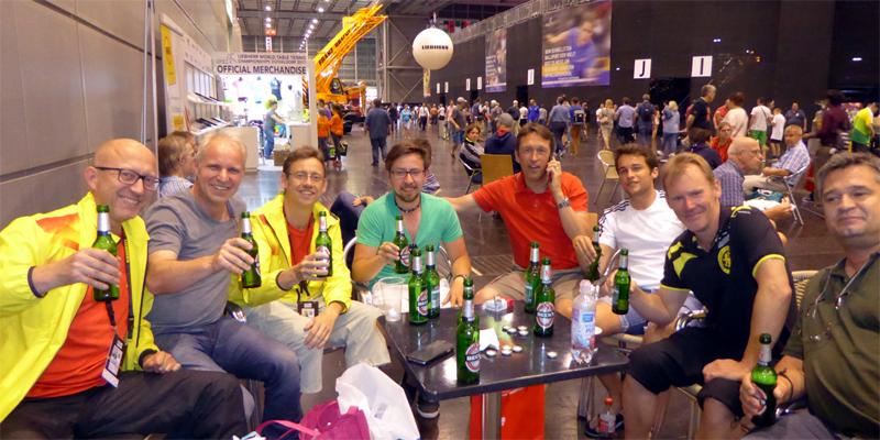 Feierabend-Bierchen bei der TTWM 2017 in Düsseldorf