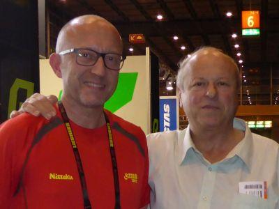 István Jónyer und Peter Wode bei der TTWM 2017 in Düsseldorf