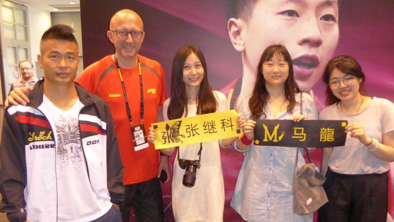 Chinesische Spieler, Fans und Volunteers