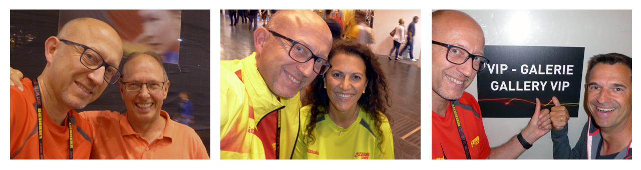 Selfies mit alten Freunden und neuen Bekannten während der TTWM 2017 in Düsseldorf