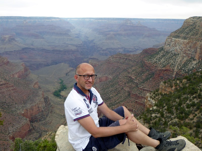 Peter am South Rim des Grand Canyon