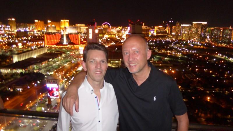 Das Poker-Duo im 50. Stock des Palms mit Blick auf Las Vegas