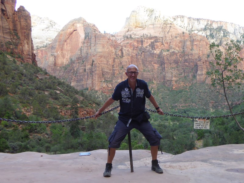 Peter im Zion Canyon